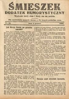 Śmieszek, 1929, nr20