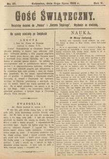 Gość Świąteczny, 1909, R. 5, nr27