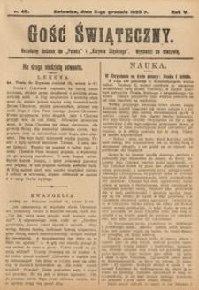 Gość Świąteczny, 1909, R. 5, nr48