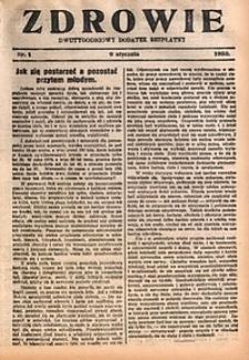 Zdrowie, 1930, nr1