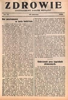 Zdrowie, 1930, nr11