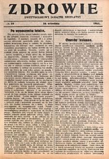 Zdrowie, 1931, nr19