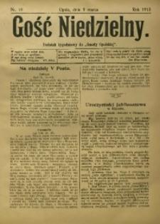 """Gość Niedzielny. Dodatek tygodniowy do """"Gazety Opolskiej"""", 1913, [R. 22], Nr. 10"""