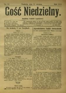 Gość Niedzielny. Bezpłatny dodatek tygodniowy, 1913, [R. 22], Nr. 25