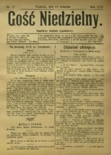 Gość Niedzielny. Bezpłatny dodatek tygodniowy, 1913, [R. 22], Nr. 37