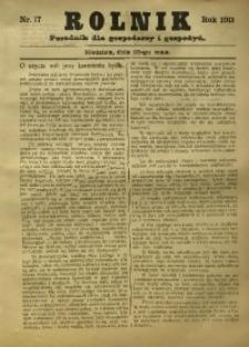 Rolnik, 1913, nr 17