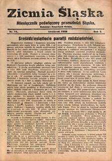 Ziemia Śląska, 1928, R. 2, nr11