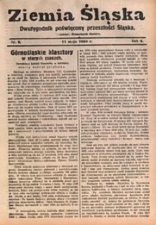 Ziemia Śląska, 1930, R. 4, nr6