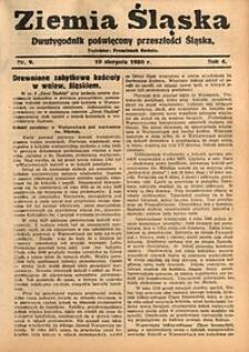 Ziemia Śląska, 1930, R. 4, nr9