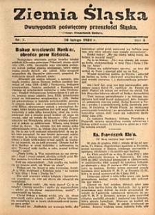 Ziemia Śląska, 1931, R. 5, nr2