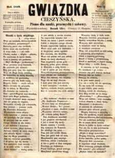 Gwiazdka Cieszyńska, 1859, nr33
