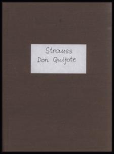 Don Quijote : (introduzione, tema con variazioni e finale) : Fantastische Variationen über ein Thema ritterlichen Charakters für großes Orchester : op. 35