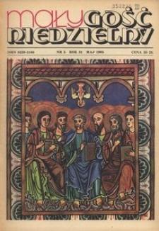 Mały Gość Niedzielny, 1985, R. 31, nr 5