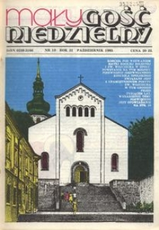 Mały Gość Niedzielny, 1985, R. 31, nr 10