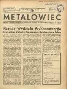Metalowiec, 1946, R. 2, nr 9 [właśc. 8 (9)]
