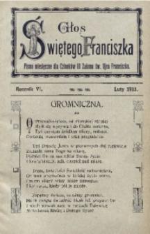Głos Świętego Franciszka, 1913, R. 6, nr 2