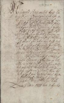 Odpis potwierdzenia w dniu 28.07.1727 r. aktu sprzedaży przez pana Jana Leopolda Tschammera kawałka ziemi na prawach wolnego gruntu w Ustroniu Dolnym wojewodzie wiślańskiemu Janowi Kralowi w dniu 7.04.1717 r., uwierzytelniony 4.07.1733 r.
