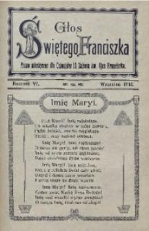 Głos Świętego Franciszka, 1913, R. 6, z. 9