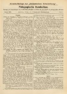 Pädagogische Rundschau, 1908, No. 1
