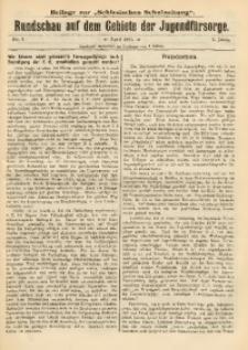 Rundschau auf dem Gebiete der Jugendfürsorge, 1911, No. 4