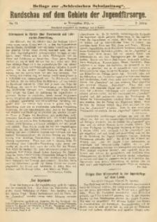 Rundschau auf dem Gebiete der Jugendfürsorge, 1911, No. 11