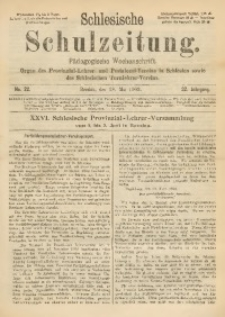 Schlesische Schulzeitung, 1903, Jg. 32, Nr. 22