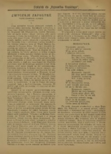 """Dodatek do """"Dziennika Śląskiego"""", 1909, [nr 4]"""