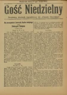 """Gość Niedzielny. Bezpłatny dodatek tygodniowy do """"Gazety Opolskiej"""", 1917-05-27"""