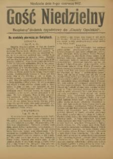 """Gość Niedzielny. Bezpłatny dodatek tygodniowy do """"Gazety Opolskiej"""", 1917-06-03"""