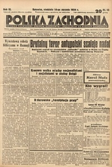 Polska Zachodnia, 1934, R. 9, nr13