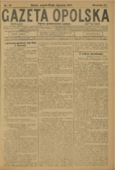 Gazeta Opolska, 1917, R. 27 [właśc. 28], nr 10