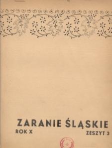 Zaranie Śląskie, 1934, R. 10, z. 3