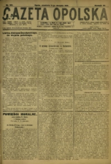 Gazeta Opolska, 1918, R. 28 [właśc. 29], nr 120