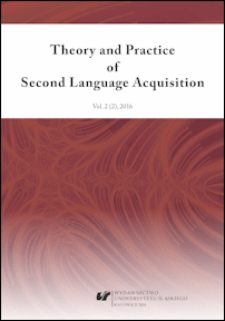 Theory and Practice of Second Language Acquisition : Vol. 2 (2) 2016