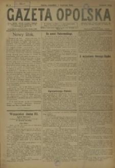 Gazeta Opolska, 1920, R. 30 [właśc. 31], nr 1