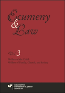 Ecumeny and Law. Vol. 3, Welfare of the child : welfare of family, Church, and society