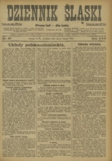 Dziennik Śląski, 1922, R. 25, nr 47