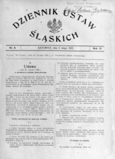 Dziennik Ustaw Śląskich, 03.02.1923, R. 2, nr 6