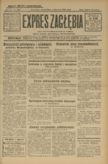 Expres Zagłębia. Jedyny organ demokratyczny woj. kieleckiego, 1929, R. 4, Nr. 288