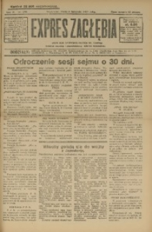 Expres Zagłębia. Jedyny organ demokratyczny woj. kieleckiego, 1929, R. 4, Nr. 290