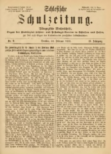 Schlesische Schulzeitung, 1886, Jg. 15, Nr. 9