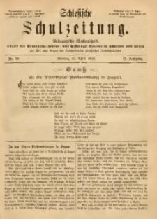 Schlesische Schulzeitung, 1886, Jg. 15, Nr. 18