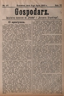 Gospodarz, 1910, nr27