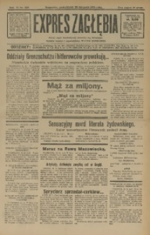 Expres Zagłębia. Jedyny organ demokratyczny niezależny woj. kieleckiego, 1931, R. 6, Nr. 320