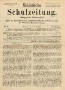 Schlesische Schulzeitung, 1904, Jg. 33, No. 27
