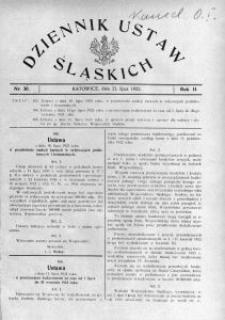 Dziennik Ustaw Śląskich, 23.07.1923, R. 2, nr 30