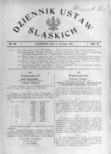 Dziennik Ustaw Śląskich, 12.11.1923, R. 2, nr 40