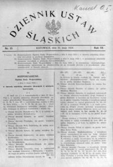 Dziennik Ustaw Śląskich, 31.05.1924, R. 3, nr 13