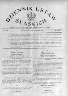 Dziennik Ustaw Śląskich, 08.08.1924, R. 3, nr 19
