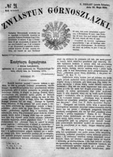 Zwiastun Górnoszlązki, 1870, R. 3, nr 21
